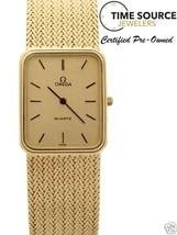 Vintage Omega Quartz 14K Yellow Gold 24 X 29mm Gold Dial 58 gram Watch - $2,801.75