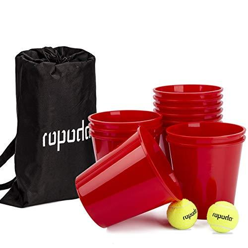 ROPODA Yard Pong - Giant Pong Game Set Outdoor for The Beach, Camping, Tailgatin