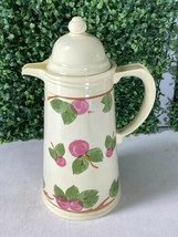 Vintage Franciscan Apple Insulated Thermos Carafe Pitcher Cold Or Hot - $24.74