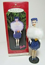1999 Gay Parisienne Barbie Fashion Collectors Series Hallmark Christmas ... - $12.19