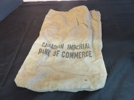 Vintage Canadian Imperial Bank of Commerce Money Bag FREE SHIP - $14.86
