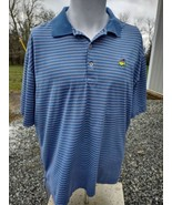 Men's Peter Millar Masters Augusta National Blue/Pink Stripe Polo Shirt ... - $11.99