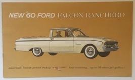1960 Ford Falcon Ranchero pickup dealer sales brochure Nice - $14.95