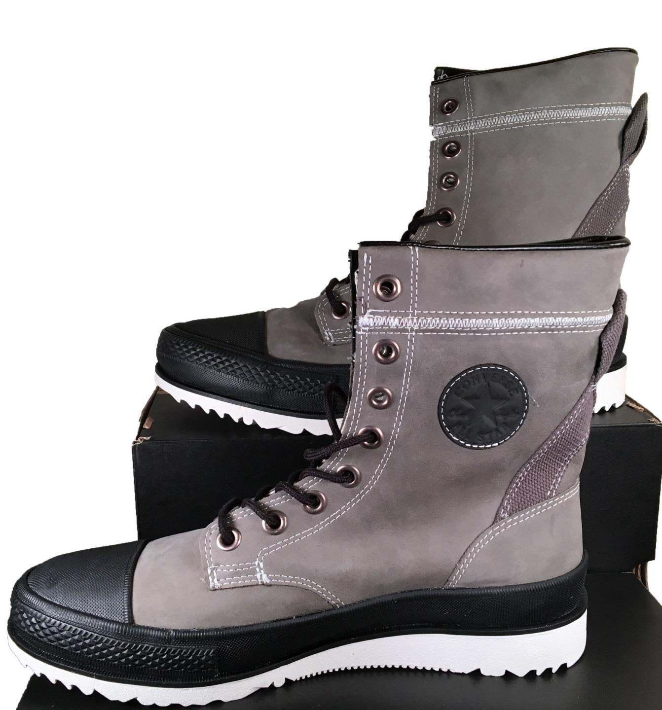 8c5c9a695b9e Converse Chuck Taylor Major Mills XHI Hi Top Leather Boot Charcoal Gray  132404C