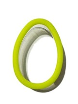 Egg Lime Green Comfort Grip Plastic Cookie Cutter Wilton - $3.88 CAD