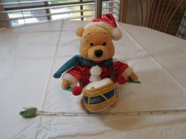 Santa drummer Winnie the Pooh Disney Store mini Bean bag 2001 Halloween ... - $13.35