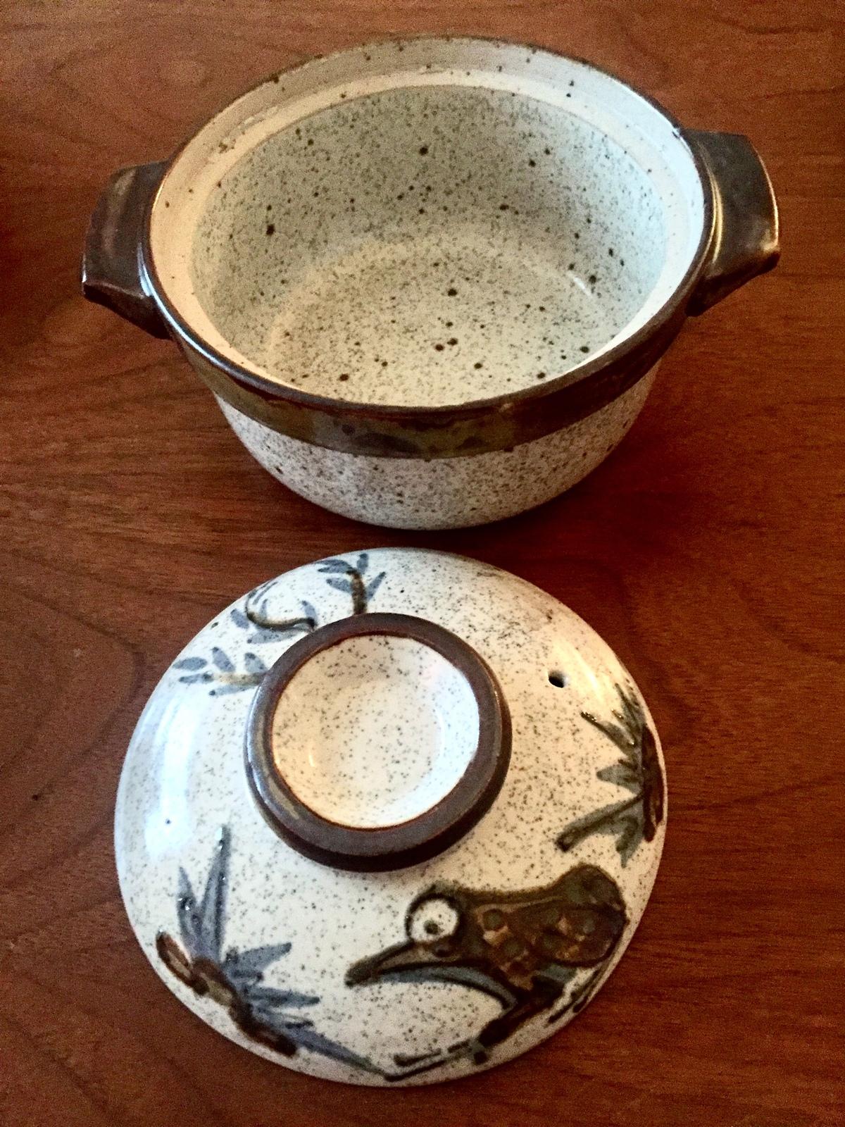 Vintage Misty Morn Shafford Frog Stoneware Bowls