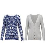 NWT Grace Elements Women's Trendy Stylist CardiganSolid Gray/Diamond Ba... - $29.99