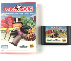 Monopoly Sega Genesis 1992 No Manual Tested and Working - $9.85