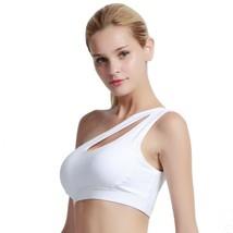 Women Sports Bra Oblique Shoulder Gym Top Workout Breathable Brassiere F... - $20.97