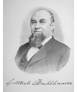 GOTTLIEB MUHLHAUSER Ohio Brewing Beer Manufacturer - 1895 Portrait Print - $9.44