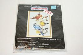 1987 Monarch Horizons #CS35 Bird Feeder w/Bluejay 18x13 Counted Cross St... - $9.89
