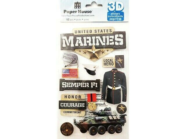 Paper House 3-D Stickers, Marines #STDM-0217