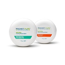 Natural Warming and Cooling Muscle Balm Combo Pack - Rocket Pure (TM) - $18.99