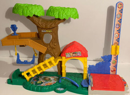 Fisher-Price Little People Big Animal Zoo Tree House Pond Play Set Free Shipping - $34.28