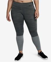 Nike Womens Plus Size Legendary Colorblocked Dri-FitLeggings Anthracite Size 2X - $109.25