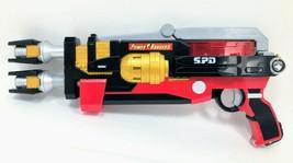 2005 Power Rangers SPD Delta Enforcer Blaster Lights and Sounds Bandai Red Black - $19.99