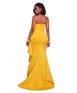 Elegant Yellow Sleeveless Maxi Evening Dress - $45.95