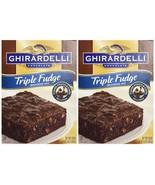 Ghirardelli Premium Chocolate Triple Fudge Brownie Mix (2 Pack) Chocolat... - $19.30