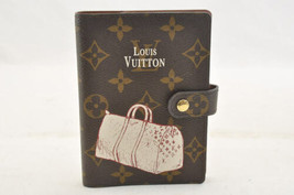 LOUIS VUITTON Monogram Agenda PM Keepall Day Planner Cover R20964 Auth 1714 - $320.00