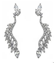 ZirconZ-FANCY Statement Clear Cubic Zirconia Hoop Dangle Earring 65MM - $69.29