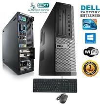 Dell 990 Optiplex PC DESKTOP Intel i7 2600 3.40g 8GB 500GB SSD Windows 10 hp 64 - $603.67