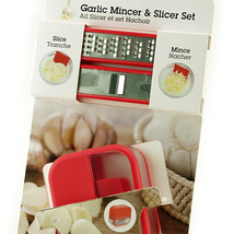 Microplane Garlic Mincer & Slicer Set Red NIP - $8.75