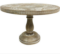 11.6IN CARVED CAKE STAND - $79.20