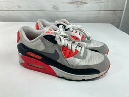 Nike Air Max 90 OG Infrared 2015 White Grey Black Womens 8.5 Authentic - $69.29