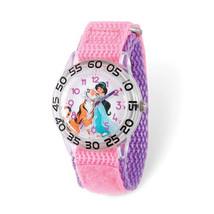 Disney Kids Aladdin Jasmine Time Teacher Pink Nylon Band Watch - $43.50