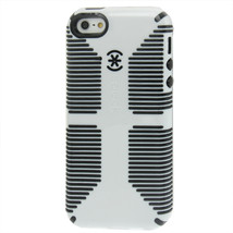 Speck Logo CandyShell Grip Case for iPhone 5 5S WHITE/BLACK Retail Package - $17.87