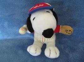 "Snoopy Plush - Met Life Baseball Player - Peanuts - 6"" - Glove/Ball/Uniform - $9.50"