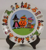 GOBLINS HALLOWEEN PLATE by URSULA DODGE trick or treat Costumes  - $9.99