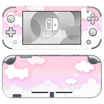 Cute Pink Cloudy Skins for Nintendo Switch Lite Decals Vinyl Sticker Pink Clouds - $9.70