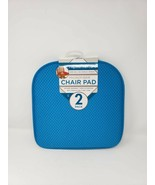 Sultan's Linens 2 Pack Blue Waffle Texture Microfiber Chair Pads - New - $9.99