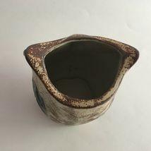 "Vintage Ceramic Owl Flower Vase Figurine 5.5"" X 3"" Brown & Cream Big Black Eyes image 3"