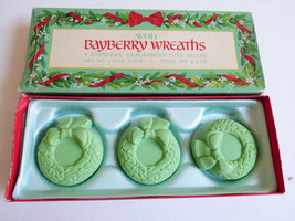 VTG 1970's Rare New in Box 3 pc. Avon Bayberry Wreaths Fragranced Perfum... - $19.80