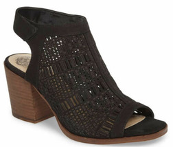 Vince Camuto Womens Keannie Leather Laser Cut Dressy Heels Sandals Size 4 NEW - $44.51