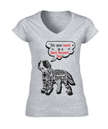 Saint bernard dog all you need b - NEW COTTON GREY LADY TSHIRT - $20.70
