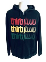 ThirtyTwo Hoodie Mens Large Thick Heavyweight Full Zip Hoodie Black Spel... - $23.16