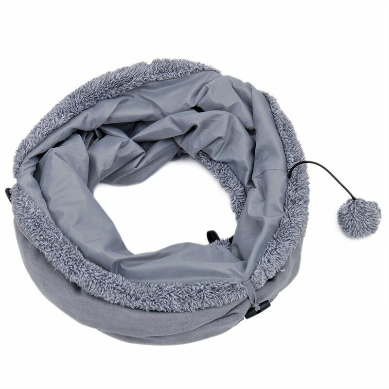 Collapsible Cat Tunnel Crinkle Kitten Play Tube For Large Cats Dogs Bunnies Toy  image 11