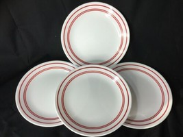 """Corelle Cafe Red Luncheon Plates 8.5"""" Lot Of 4 - $19.80"""