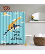 BeddingOutlet Jungle Giraffe Ride Shark Shower Curtain Animals Kids Bath... - $32.05