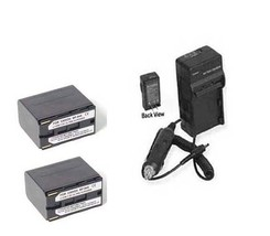 TWO 2X Batteries + Charger for Canon GL-1 GL-2 XF100 XF105 XF300 - $57.47