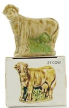 No.27 Cow Miniature Porcelain Figurine Picture Box Whimsies by Wade image 1