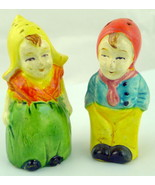 Dutch Kids Salt and Pepper  Vintage Set - $32.18