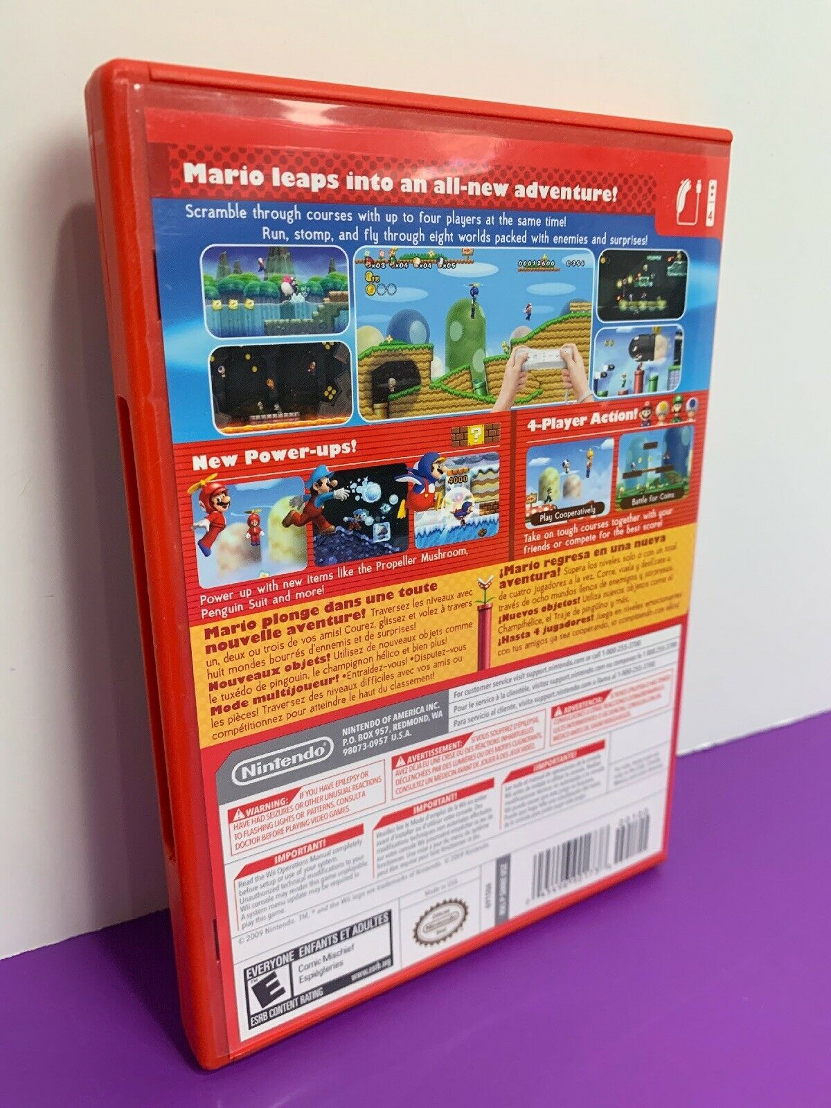 New Super Mario Bros. Wii (Nintendo Wii, 2009) Complete
