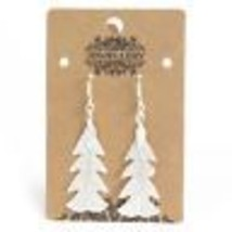 Earrings - Festive Fir Silver Real Leaf Metal Coating Dangly Accessory G... - $13.05