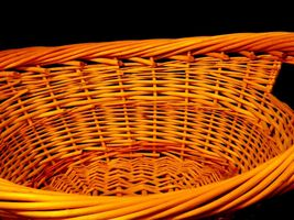 Handmade Woven Wicker Basket with Double Handles AA-191710  Vintage Collectible image 5