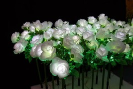 "27.5"" white LED rose flowers Light Christmas holiday party birthday Home Decor - $197.99"